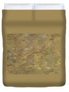 Goldtone Stone Abstract Duvet Cover