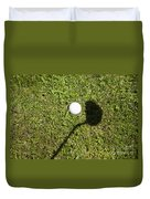 Golf Ball And Shadow Duvet Cover