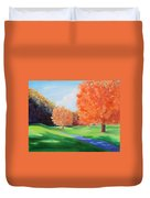 Golf Course In The Fall 1 Duvet Cover