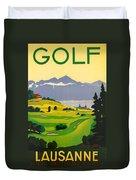 Golfing In Lausanne Duvet Cover