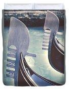 gondolas - Venice Duvet Cover by Joana Kruse