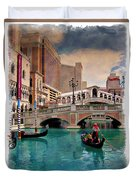 Gondolas On The Canal - Impressions Duvet Cover