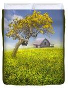 Good Morning Spring Duvet Cover by Debra and Dave Vanderlaan