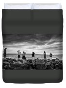 Goodbye Miss Lonely Hearts Duvet Cover