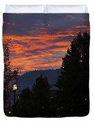 Gorgeous Sunrise On G Street Duvet Cover