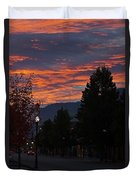 Gorgeous Sunrise On G Street Duvet Cover