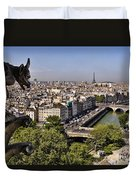Gorgyle View Of Paris Duvet Cover