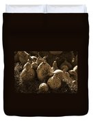 Gourds In Sepia Duvet Cover