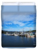 Government Wharf In Sooke Harbour Duvet Cover