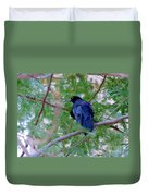 Grackle On A Branch Duvet Cover