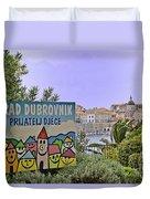 Grad Dubrovnik Duvet Cover