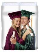Graduation Couple Duvet Cover