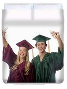 Graduation Couple V Duvet Cover