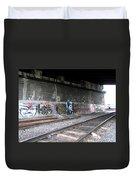 Graffiti - Under Over Railyard Duvet Cover