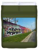 Graffiti Lane Duvet Cover