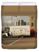 Graffiti Truck Duvet Cover