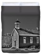 Grafton Schoolhouse - Bw Duvet Cover