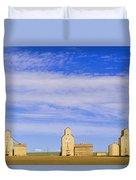 Grain Elevators, Mossleigh, Alberta Duvet Cover