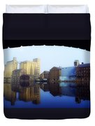 Grand Canal, Dublin, Co Dublin, Ireland Duvet Cover