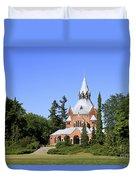 Grand Chapel In Central Cemetery Szczecin Poland Duvet Cover