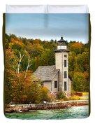 Grand Island Lighthouse No.1442 Duvet Cover