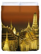 Grand Palace And Temple Of The Emerald Duvet Cover