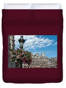Grand Place Flowers Duvet Cover