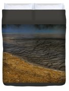 Grand Prismatic Spring Runoff Duvet Cover
