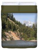 Grand Tetons From Snake River Duvet Cover