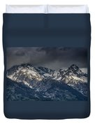 Grand Tetons Immersed In Clouds Duvet Cover