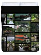 Grand Union Canal Collage Duvet Cover