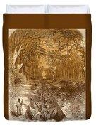 Grants Canal, 1862 Duvet Cover