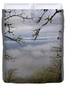 Grants Pass In The Fog Duvet Cover