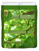 Grape Arbor Duvet Cover