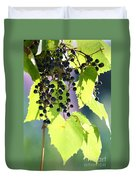 Grapes And Leaves Duvet Cover