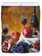 Grapes And Pomgranates Duvet Cover