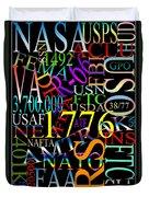 Graphic America 1 Duvet Cover