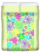 Graphic Flowers Duvet Cover