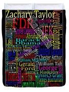 Graphic Presidents Duvet Cover