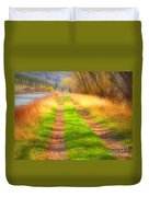 Grass And Shadows Duvet Cover