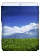 Grass In A Field, Ireland Duvet Cover by The Irish Image Collection