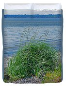 Grass On The Beach Duvet Cover