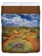 Grass Triodia Sp Covering Sand Dunes Duvet Cover