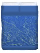 Grasses And Water Duvet Cover