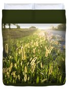 Grasses On A Nebraska Farm Duvet Cover