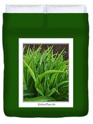 Grassy Drops Duvet Cover