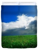 Grassy Field, Ireland Duvet Cover by The Irish Image Collection