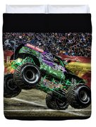 Grave Digger At Ford Field Detroit Mi Duvet Cover
