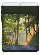 Gravel Road At Sunrise, Pelham, Ontario Duvet Cover by Darwin Wiggett