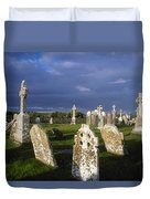 Graveyard, Clonmacnoise, County Offaly Duvet Cover
